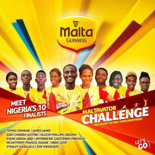 NIGERIA'S TEN FINALISTS FOR THE MALTAVATOR CHALLENGE TV GAME SHOW! #MALTAGUINNESS