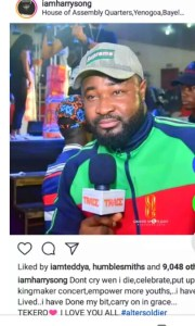 WHY HARRYSONG THINKS HE IS THE NEXT MUSICIAN TO DIE