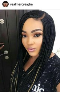 VIEW WHAT PEOPLE ARE SAYING ABOUT MERCY AIGBE'S 55,000 NAIRA BRAID WIG
