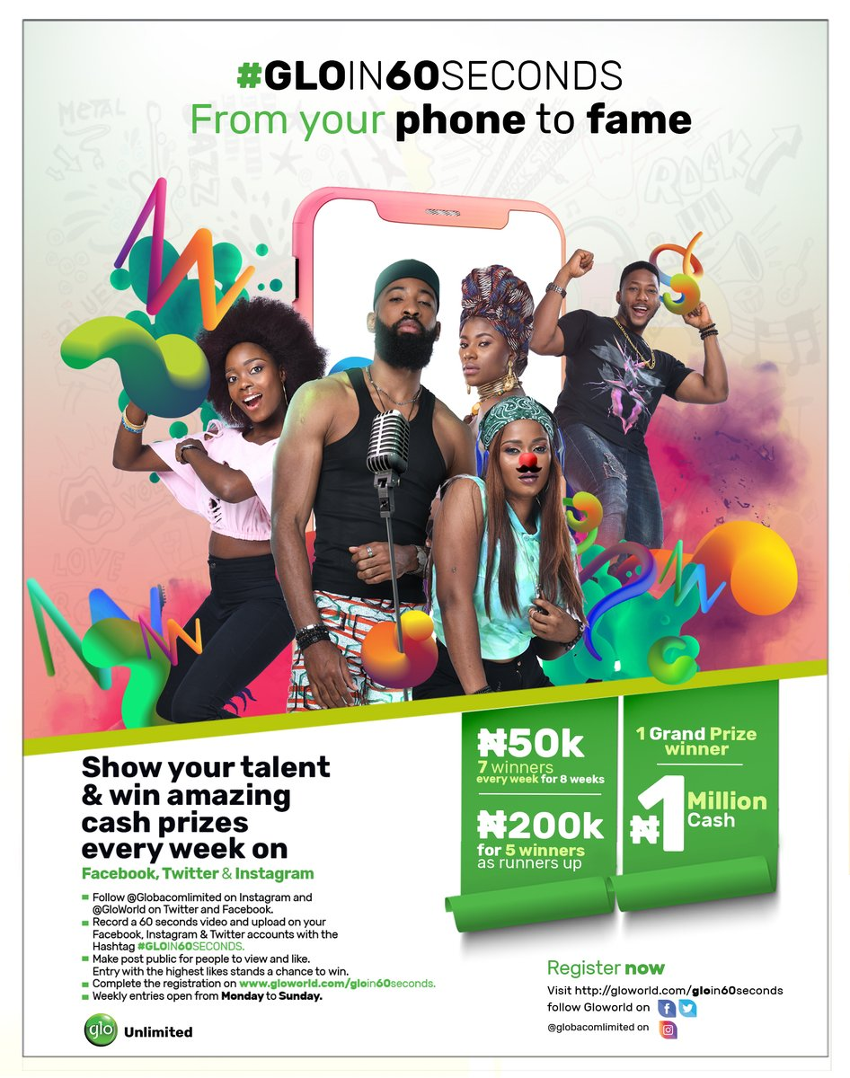 You are currently viewing 50K FOR GRABS IN THE #GLOIN60SECONDS COMPETITION
