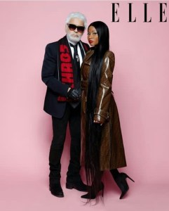 HERE IS WHAT NICKI MINAJ HAS TO SAY ABOUT FASHION DESIGNER~KARL LAGERFELD'S DEATH