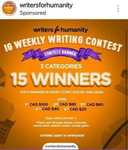 LET UR SHORT STORY WIN YOU 100 DOLLARS WEEKLY!