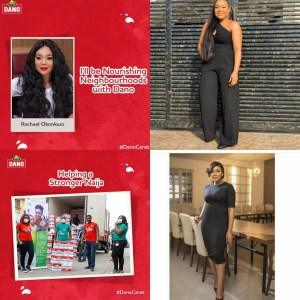 NOLLYWOOD ACTRESS- RACHAEL OKONKWO WOULD BE NOURISHING NEIGHBOURHOODS WITH DANO! CHECK IF YOUR NEIGHBOURHOOD IS NEXT…