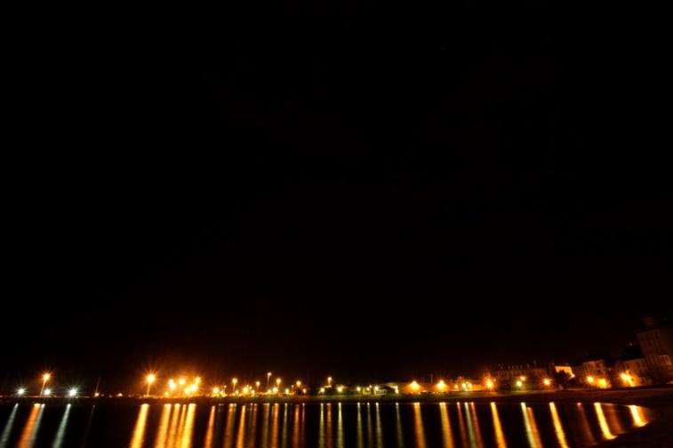 Saint Malo beach by night