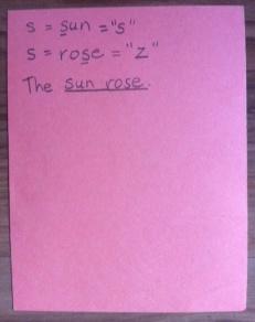 Consonant sounds card