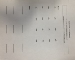 cons + le worksheet