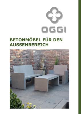 OGGI-Beton: Betonmöbel für den Außenbereich