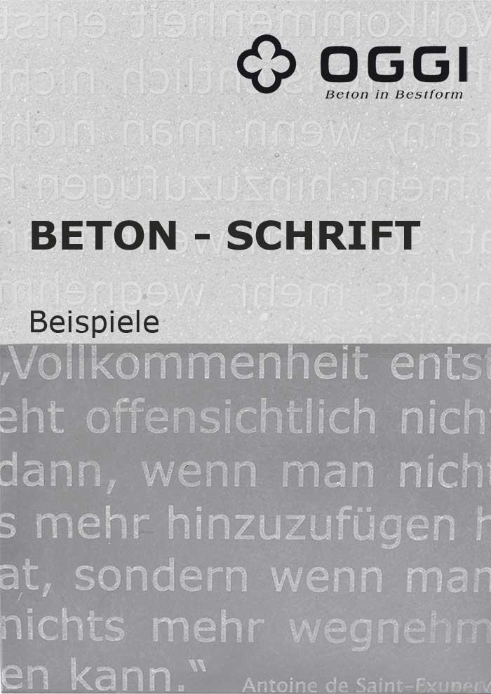 OGGI-Beton: Katalog-PDF Beton-Schrift