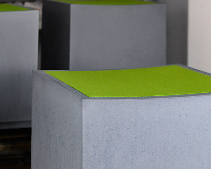 OGGI-Beton: Brandschutzmöbel, Sitzwürfel ANCONA