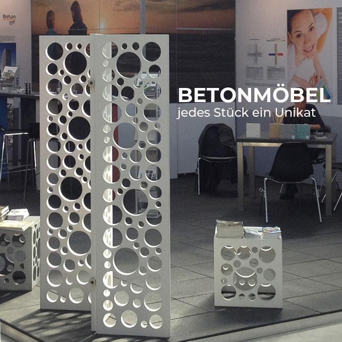 OGGI-Beton: Betonmöbel - jedes Stück ein Unikat zum Wohnen mit Beton