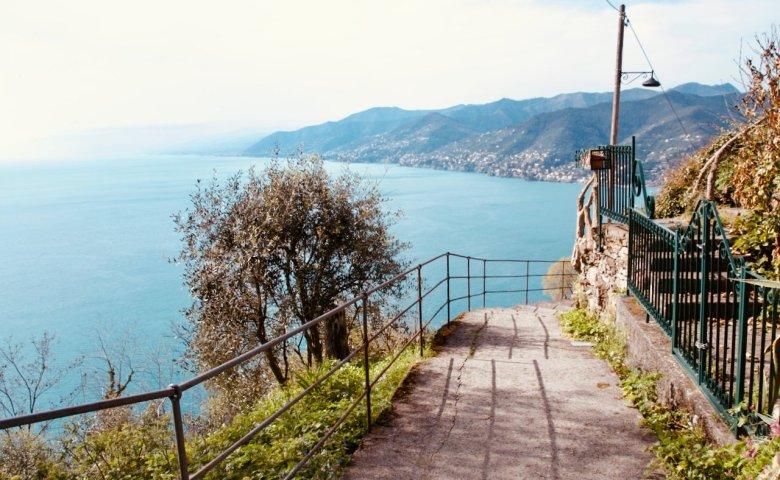 Panorama sul mare dal Monte di Portofino