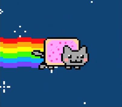 Un frame dal video Nyan Cat (fonte: YouTube)