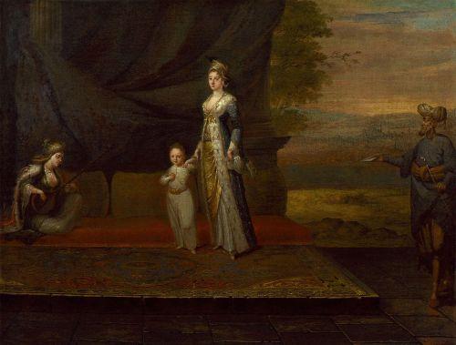 Lady Mary Wortley Motagu e il figlio Edward in un dipinto di Jean Baptiste Vanmour