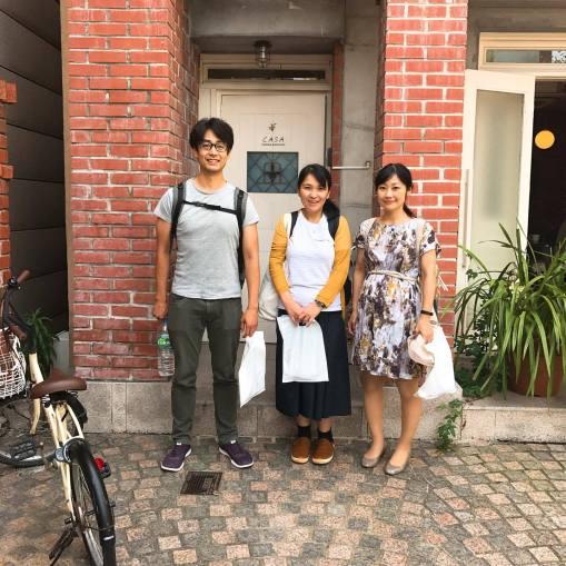 Airbnbは青春大学生が住んでそうな部屋にこのお二人とGeorgeさんと4人でした。