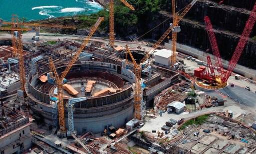 Obras da usina nuclear Angra 3, cuja conclusão está entre as prioridades do ministro Bento Albuquerque, de Minas e Energia Foto: DIVULGAÇÃO / ELETRONUCLEAR