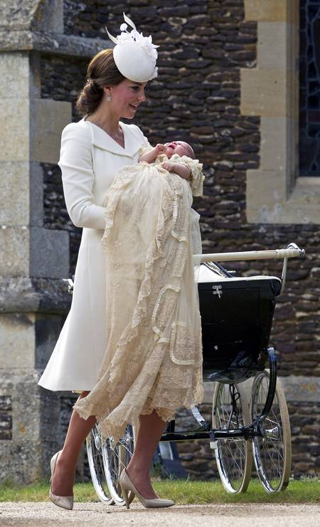 Kate and little Charlotte Photo: WPA Pool/Getty Images