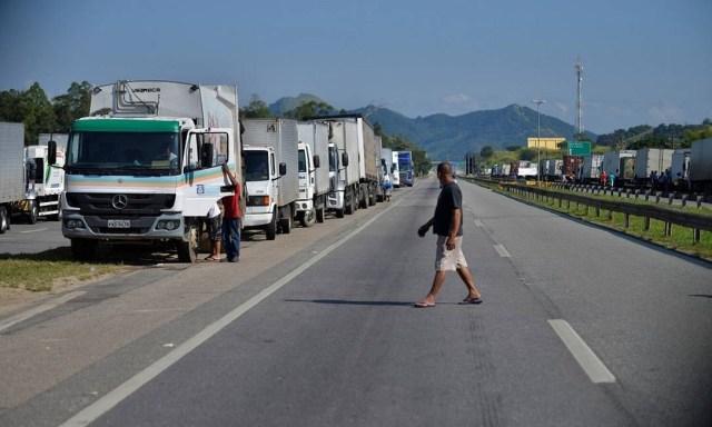 Greve dos caminhoneiros em maio de 2018. Foto: Fabio Teixeira / Getty Images