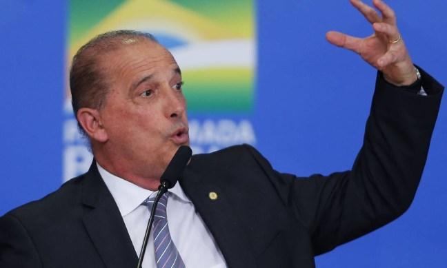 Ministro da Casa Civil, Onyx Lorenzoni Foto: Jorge William / Agência O Globo