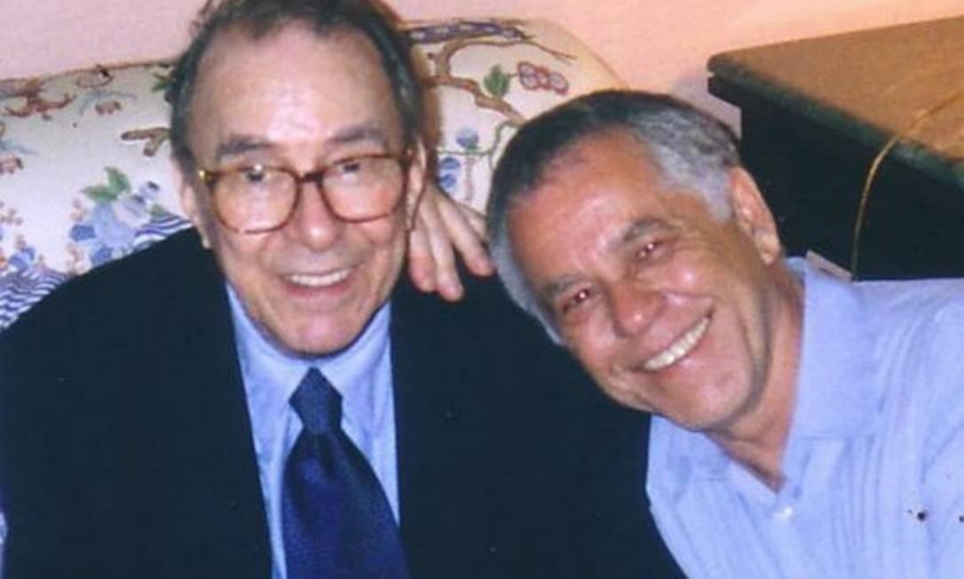 Nelson Motta e João Gilberto Foto: Arquivo Pessoal