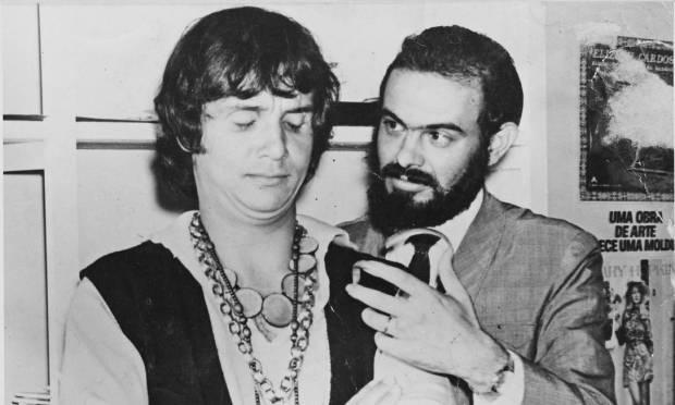 Roberto Carlos and José Mojica Marins in 1978 Photo: Publicity