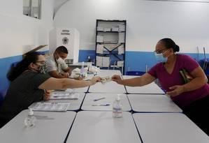 Votação no Ciep Ayrton Senna, na Rocinha Foto: Fabiano Rocha / Agência O Globo