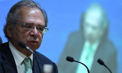 O ministro da Economia, Paulo Guedes, durante entrevista com balanço de fim de ano Foto: Edu Andrade / ME