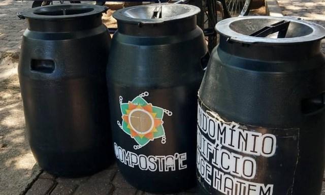 O lixo orgânico é reservado em recipientes próprios Foto: Divulgação