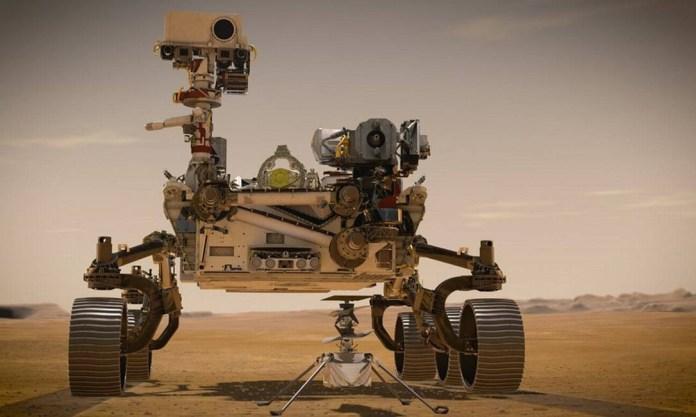 O robô Perseverance, enviado a Marte pela agência espacial Nasa Foto: Nasa