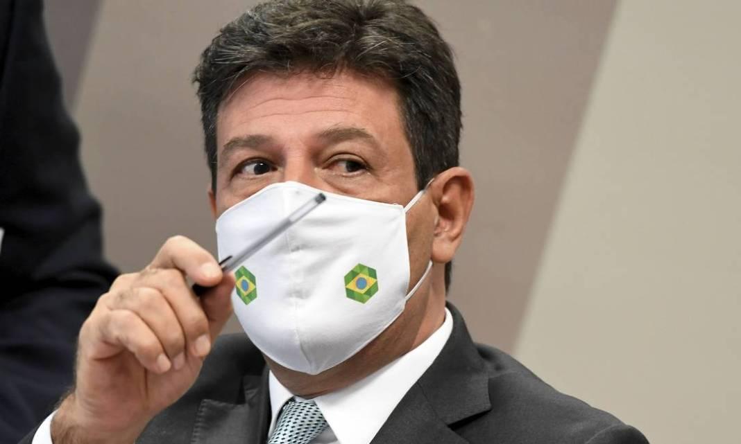 Ex-ministro da Saúde Luiz Henrique Mandetta sustentou o discurso de que seguiu sempre orientações ténicas à frente da pasta Foto: Jefferson Rudy / Agência O Globo - 05/05/2021