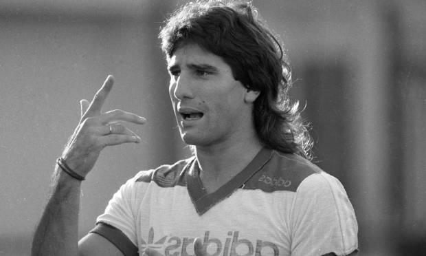 Renato Gaúcho during Flamengo training in 1988 Photo: Otávio Magalhães / Agência O Globo - 03/03/1988