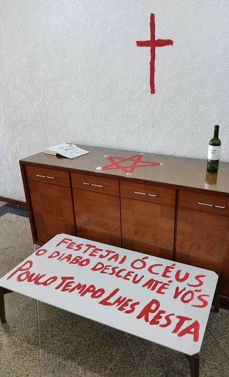 Foto do apartamento onde casal foi encontrado morto Foto: Reprodução