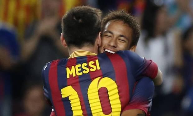In 2013, at Camp Nou.  Photo: ALBERT GEA / REUTERS
