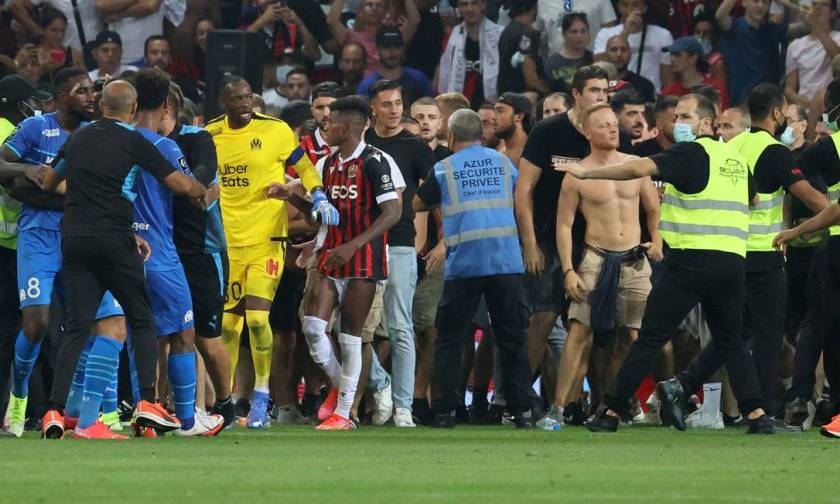 Nice vs Marseille has confusion between fans and players Photo: VALERY HACHE / AFP