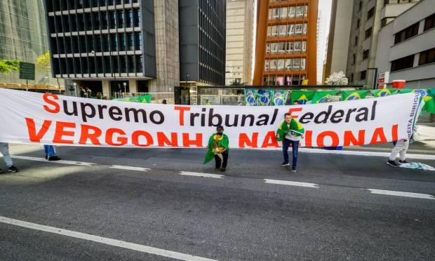 Demonstration on Avenida Paulista, in São Paulo Photo: Fotoarena / .
