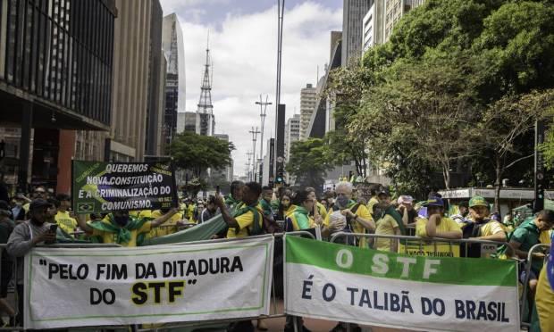 Demonstration on Avenida Paulista, in São Paulo Photo: Agencia Enquadrar / .