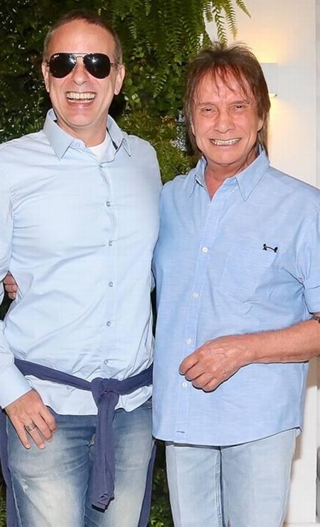 Dudu Braga e o pai Roberto Carlos Foto: Reprodução
