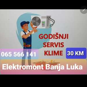 AKCIJA-Servis klima uređaja Elektromont Banja Luka 065 566 141
