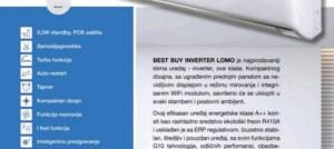 AKCIJA Inverter klima Gree Lomo Economical A/++ Wi-Fi -15°C sa ugradnjom 980 KM Elektromont Banja Luka 065 566 141