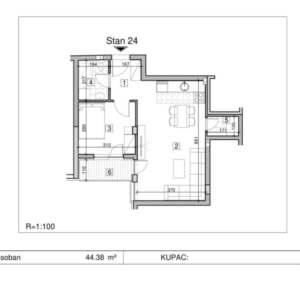 Prodajem stan u Novom Sadu 44m2