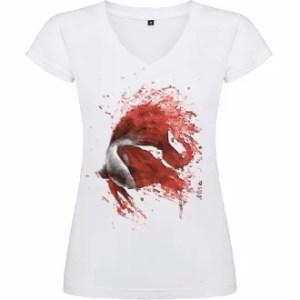 Camiseta de mujer: Pez de lucha japones