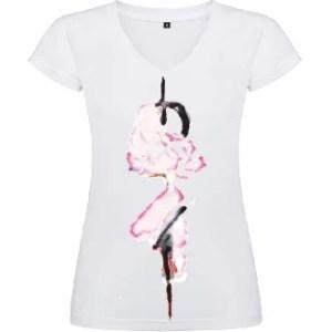 Camiseta de mujer: Flores