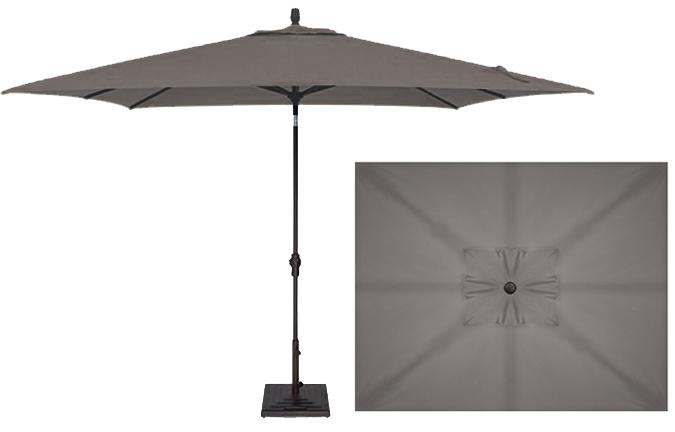8x10 foot charcoal grey rectangular market patio umbrella ogni