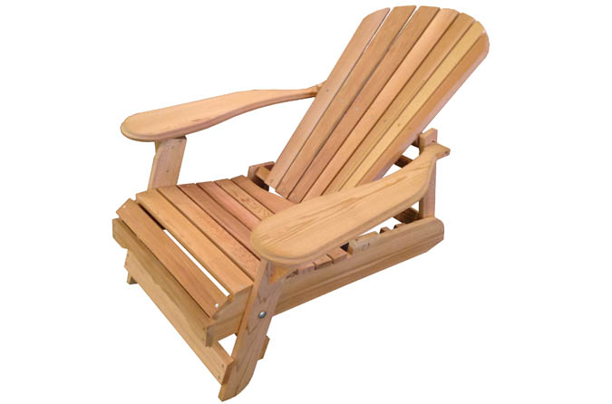 Chaise Adirondack Inclinable En Cdre Rouge Ogni