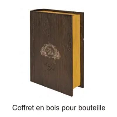 coffret bois livre bouteille publicitaire ografx