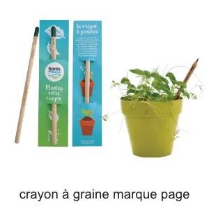 crayon à graine marque page