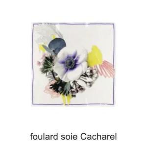 foulard soie cacharel