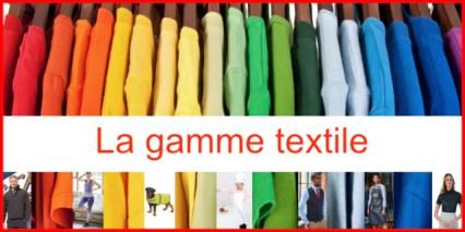 textile professionnel avec logo