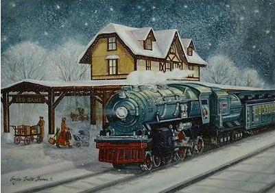 All Aboard For Christmas T Kinkade O Gauge