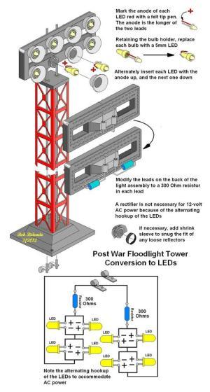 Floodlight Tower LED Conversion | O Gauge Railroading On Line Forum