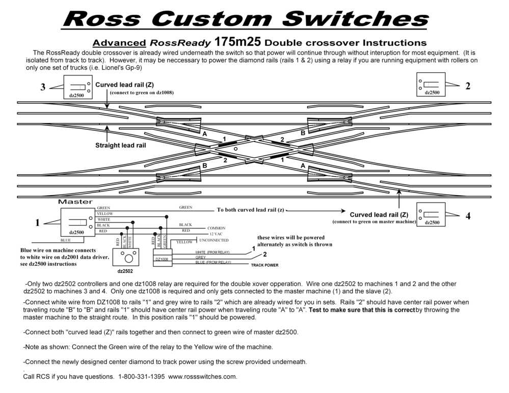 Wireing Ross 30 Double Crossover